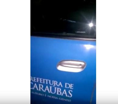 Carros de Prefeitura do Cariri são utilizados para transportar correligionários para festa