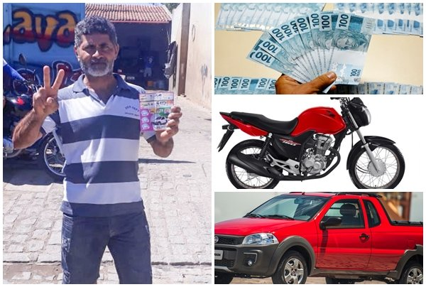 SORTUDO: Sumeense ganha carro, moto e R$ 5 mil do Bilhetão da Sorte