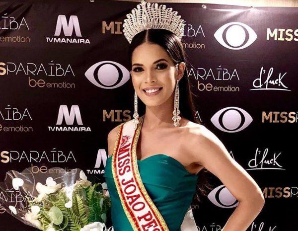 Modelo caririzeira é eleita a Miss Paraíba Be Emotion 2019