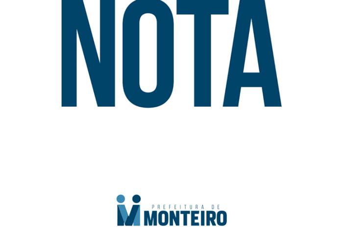 Prefeitura de Monteiro emite comunicado a respeito de programas assistenciais
