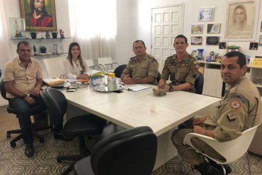 Comandante do Corpo de Bombeiros destaca empenho da prefeita de Monteiro para implantação de unidade no Cariri
