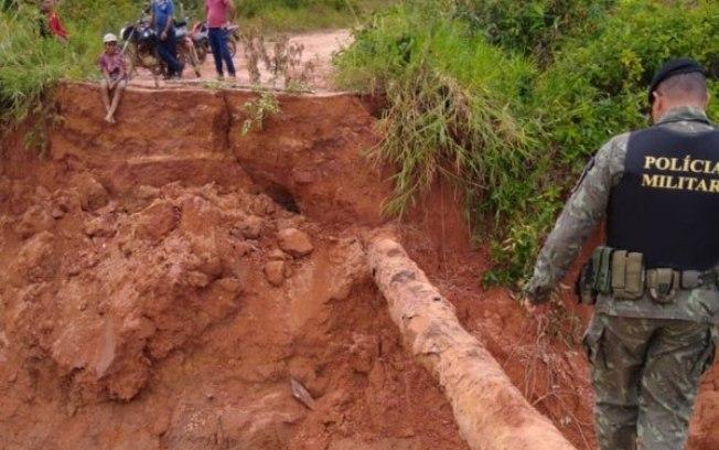 Barragem se rompe após tromba d'água em Rondônia