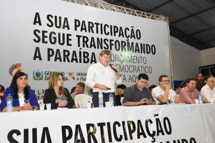 João participa do ODE em Esperança e presta contas de ações do Governo