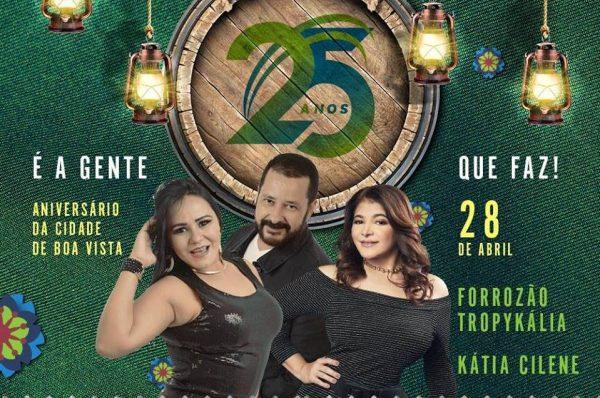Boa Vista vai comemorar aniversário com inaugurações, anúncios e shows em praça pública