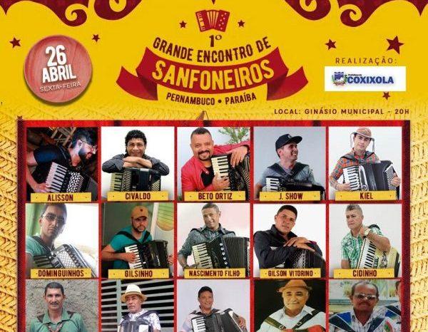 Coxixola comemora 25 anos de emancipação com encontro de sanfoneiros e shows