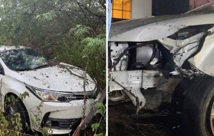 Cantor Batista Lima sofre acidente de carro com a esposa