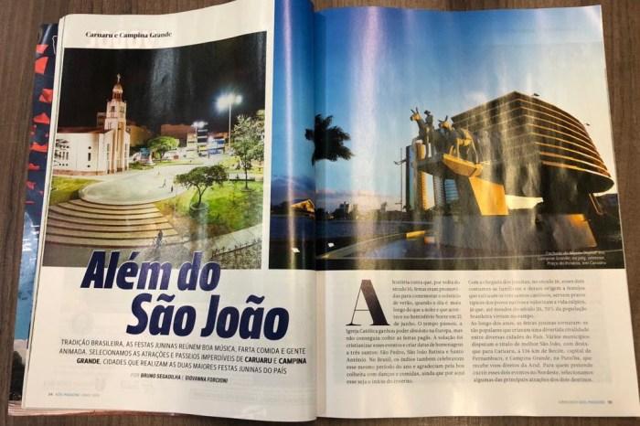Revista de bordo da Azul destaca festejos juninos de Campina Grande