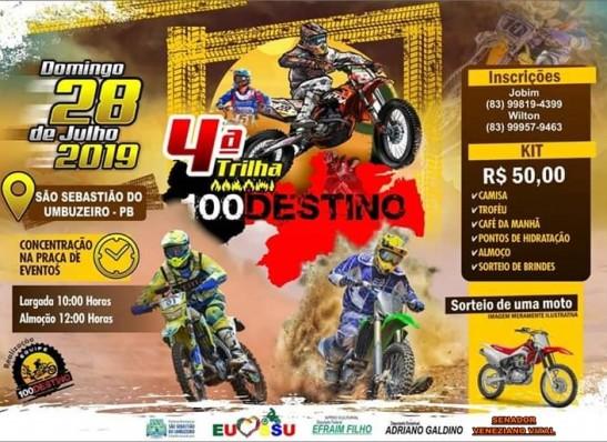 São Sebastião do Umbuzeiro realiza 4° Trilha 100 Destino neste domingo