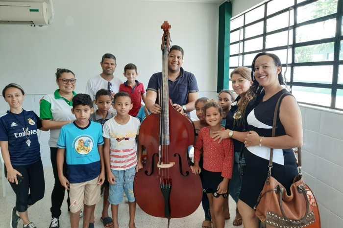 Crianças do SCFV de Monteiro participam de aulas de flauta doce em parceria com IFPB
