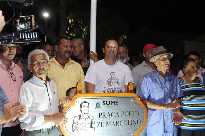 Prefeito Éden Duarte entrega obra de reforma da Praça que homenageia Zé Marcolino