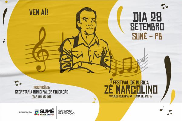 Definidas as músicas selecionadas para o Festival de Música Zé Marcolino, confira