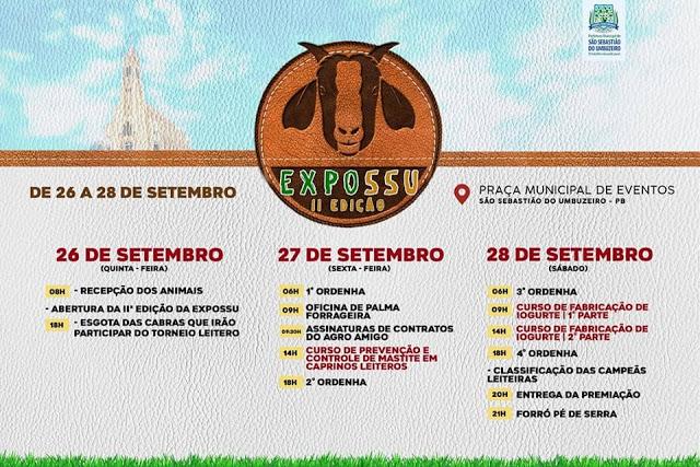 Confirmada programação completa da 2ª Exposição de São Sebastião do Umbuzeiro