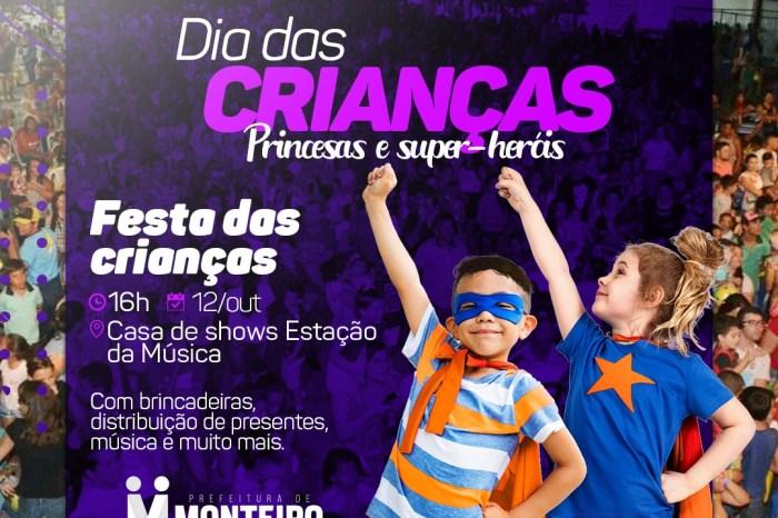 Princesas e super-heróis farão a alegria dos pequenos no Dia das Crianças em Monteiro