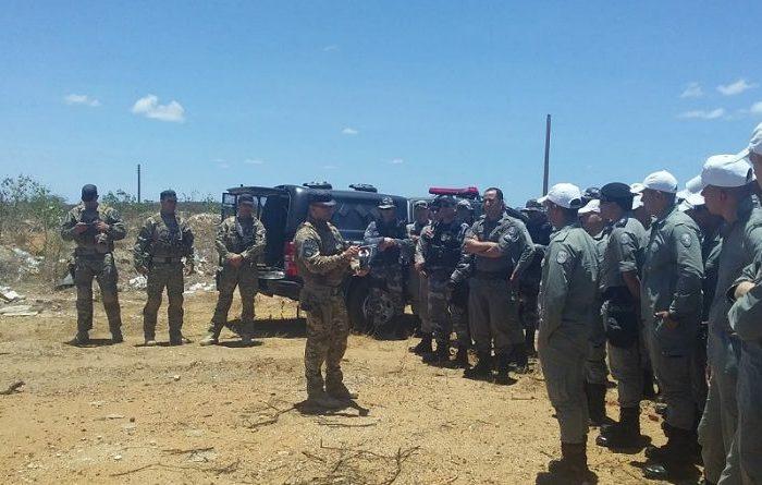 BOPE realiza instruções sobre utilização de explosivos para polícias militares no Cariri