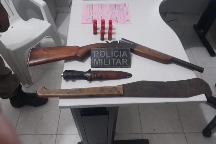 Polícia Militar prende homem por porte ilegal de arma em cidade do Cariri