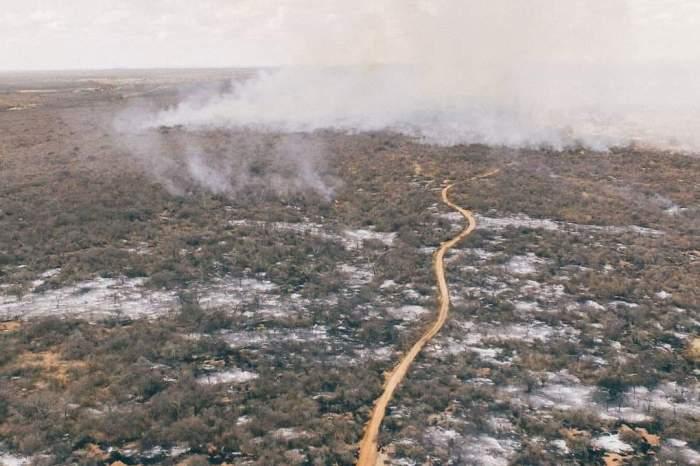 Após longo trabalho, incêndio é controlado na zona rural de Monteiro