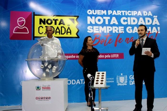Governo divulga nome dos ganhadores do 1º Sorteio da 'Nota Cidadã'