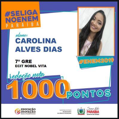Jovem de Coremas tira nota 1000 na redação do Enem