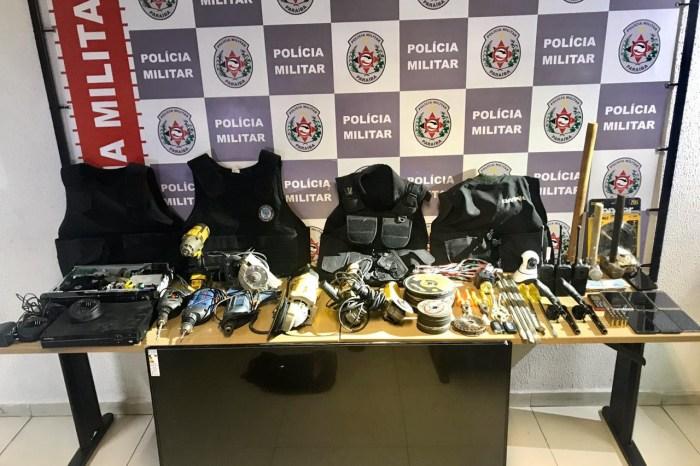 Polícia prende trio suspeito de arrombar agências bancárias