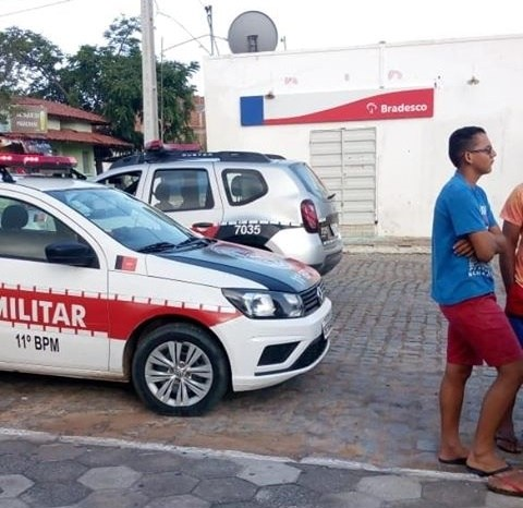 Bandidos arrombam agência do Bradesco no Cariri