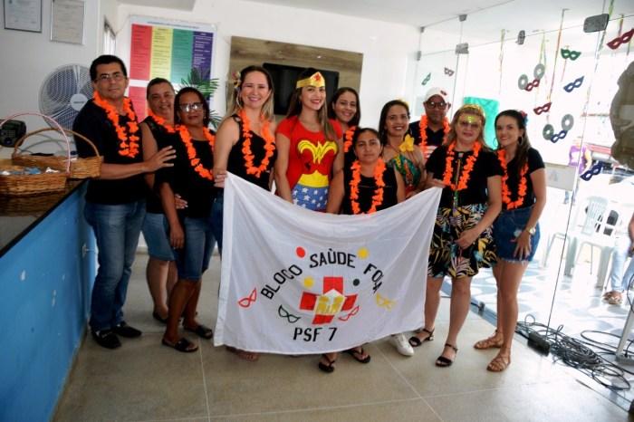 Saúde com Folia: UBS 07 de Monteiro comemora carnaval com usuários da unidade