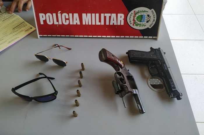 Em Monteiro: Polícia prende dupla após tentativa de assalto e apreende arma