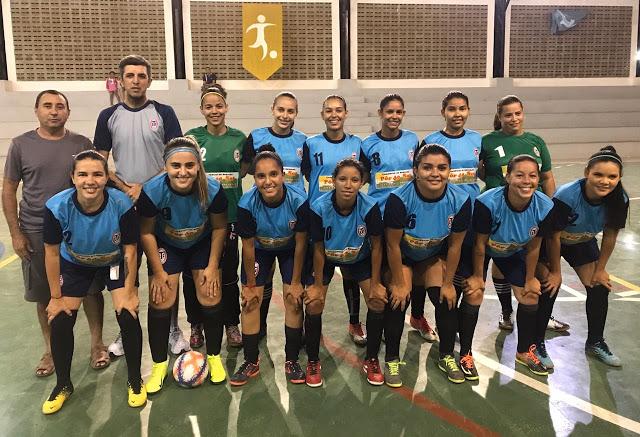 Tiradentes Futsal Feminino sobra fisicamente e goleia Independente de Sumé em 1º amistoso