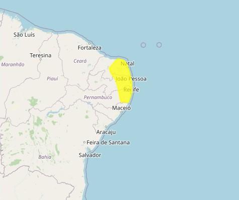 Inmet faz alerta por acumulado de chuva em 105 cidades da Paraíba