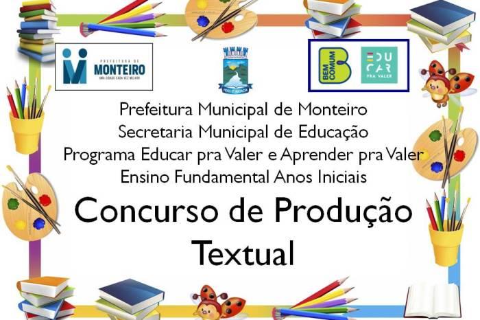 Alunos da Rede Municipal de Monteiro participam de concurso de Produção Textual