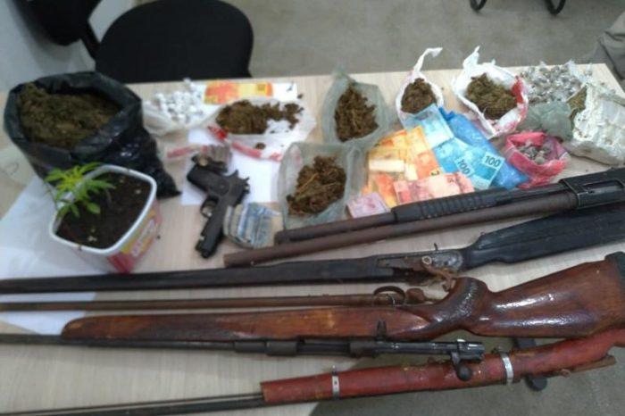 Operação conjunta entre Polícias realizam prisões e apreensões de drogas no Cariri