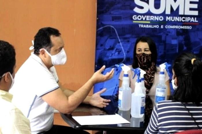 Parceria: Prefeitura de Sumé recebe doação do CDSA de álcool glicerinado 70%