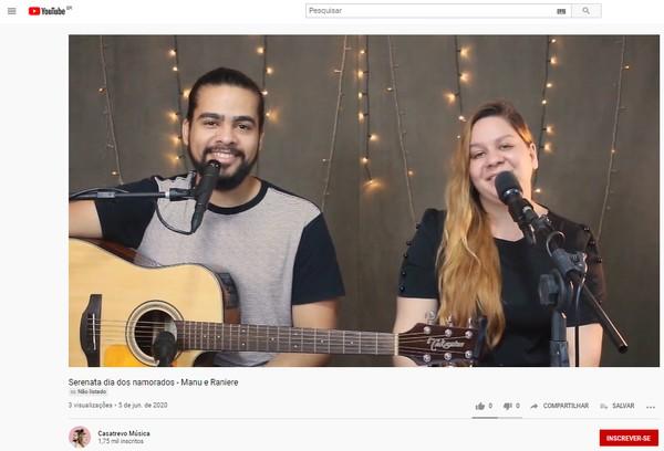 Casal inova com serenatas virtuais para o Dia dos Namorados