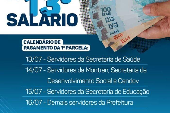 Prefeitura de Monteiro inicia pagamento da primeira parcela do décimo terceiro salário