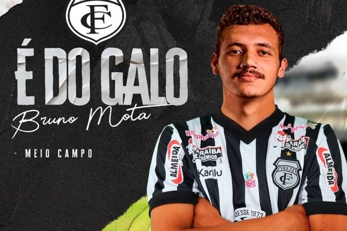 Treze confirma que o meia Bruno Mota testou positivo para Covid-19