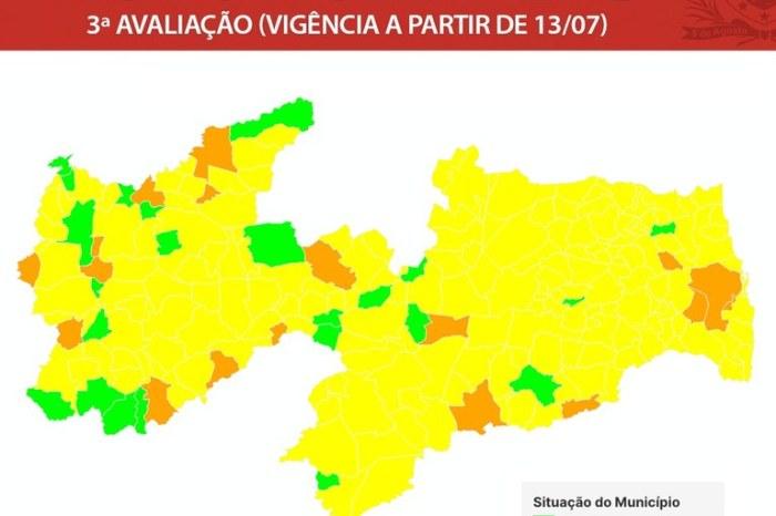 Covid-19: Governo do Estado classifica município de Sumé com bandeira amarela