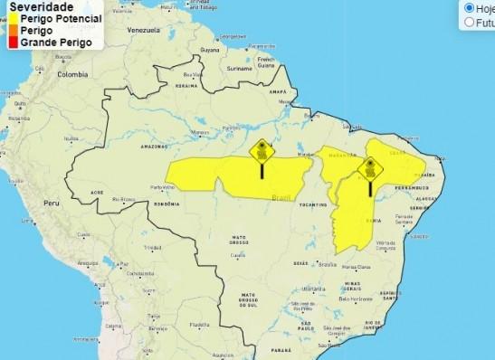 Inmet alerta para baixa umidade relativa do ar em 85 municípios paraibanos