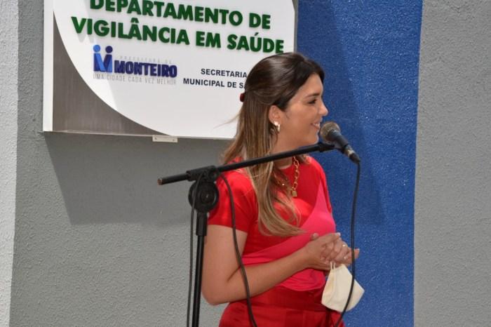 Anna Lorena entrega nova sede do Departamento da Vigilância em Saúde de Monteiro