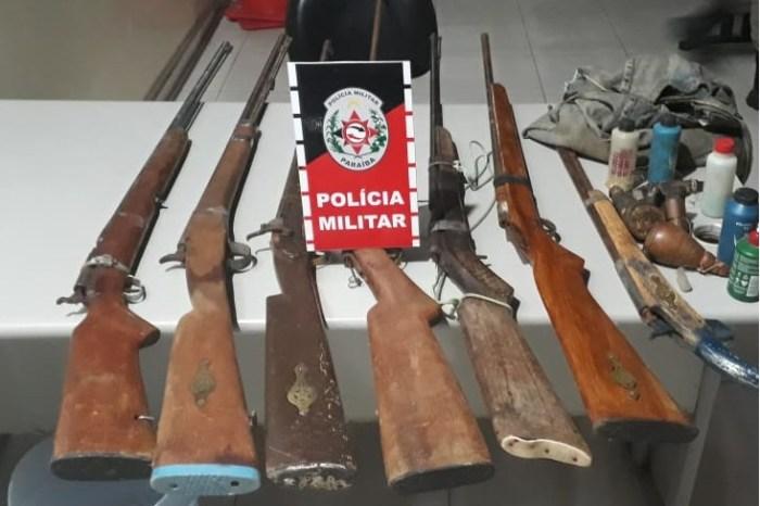 Polícia Militar apreende armas de fogo durante operação 'Pôr do sol' no Cariri