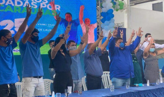 Convenção homologa candidatura de Silvano Dudu e Zé de Laura em Caraúbas