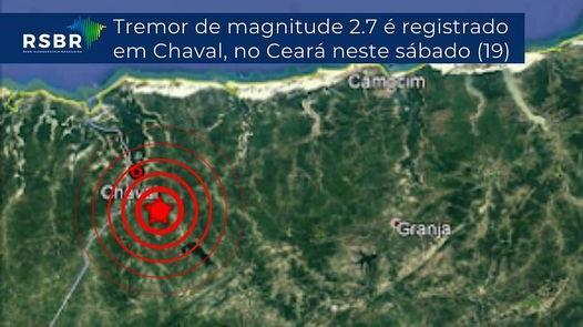 Tremor de terra de magnitude 2.7 é registrado no interior do CE