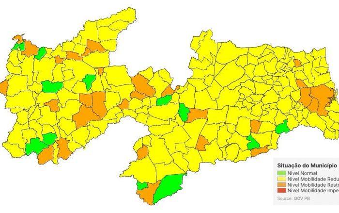 PB possui 81% das cidades na bandeira Amarela