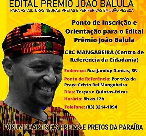 Fórum de artistas pretos da PB divulga edital de renda emergencial