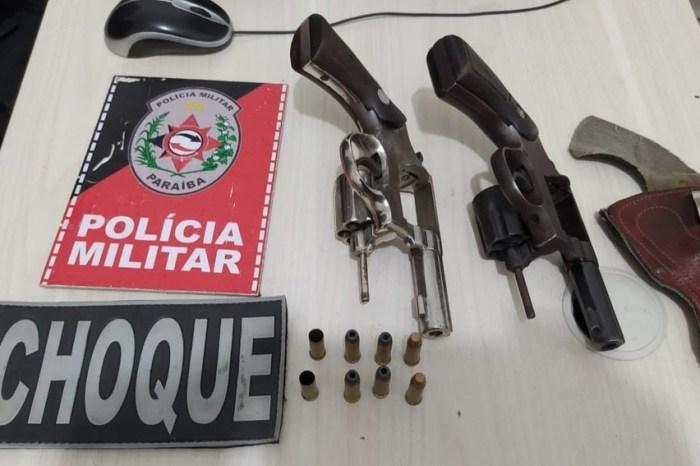 Sete armas são apreendidas em dois dias de operação da PM