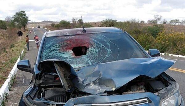 NO CARIRI: Idoso de 90 anos morre ao ser atropelado por carro na BR-104