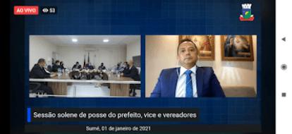 Éden Duarte toma posse após ser reeleito prefeito de Sumé