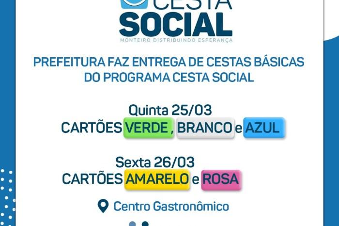 Entrega das feiras do Programa Cesta Social da prefeitura de Monteiro começa nesta quinta