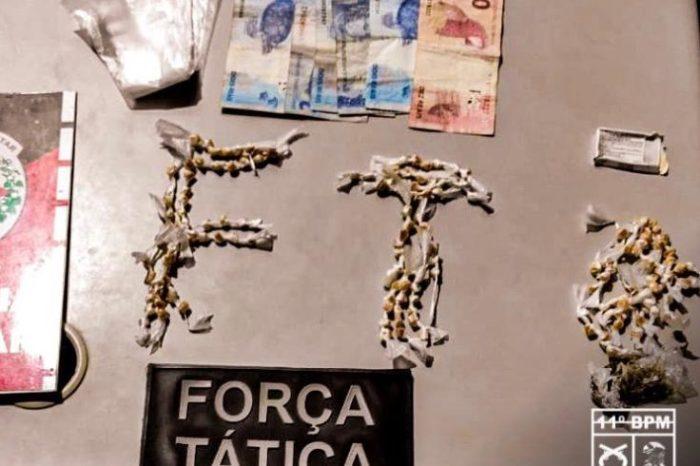 Polícia Militar realiza abordagem e prende dois homens com drogas em Monteiro