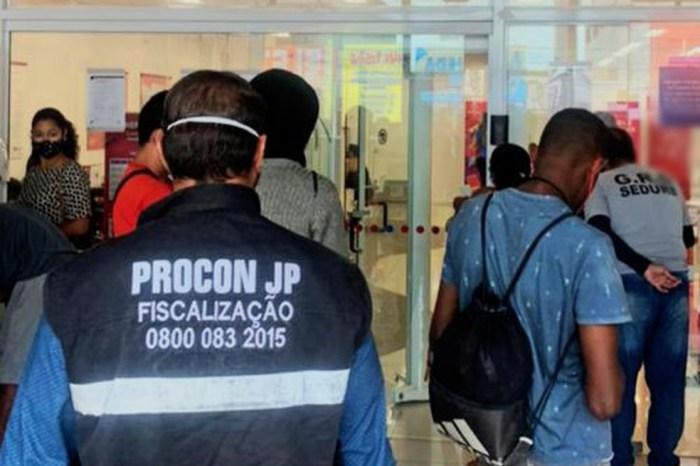 Combate à Covid-19: Procon autua 8 agências bancárias em JP