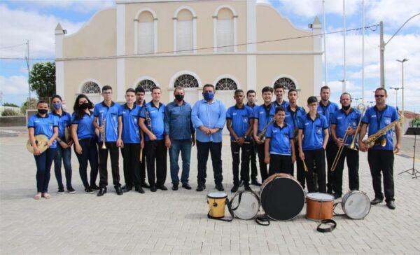 Banda Filarmônica de Gurjão recebe apoio da Gestão Municipal