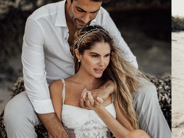 Bárbara Evans e Gustavo Theodoro se casam novamente